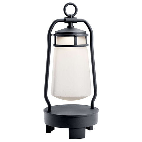 Lyndon Portable Bluetooth LED Lantern - Textured Black