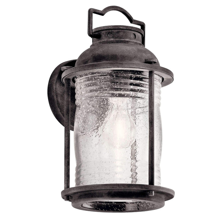 Ashland Bay Outdoor Wall 1 Light - Weathered Zinc