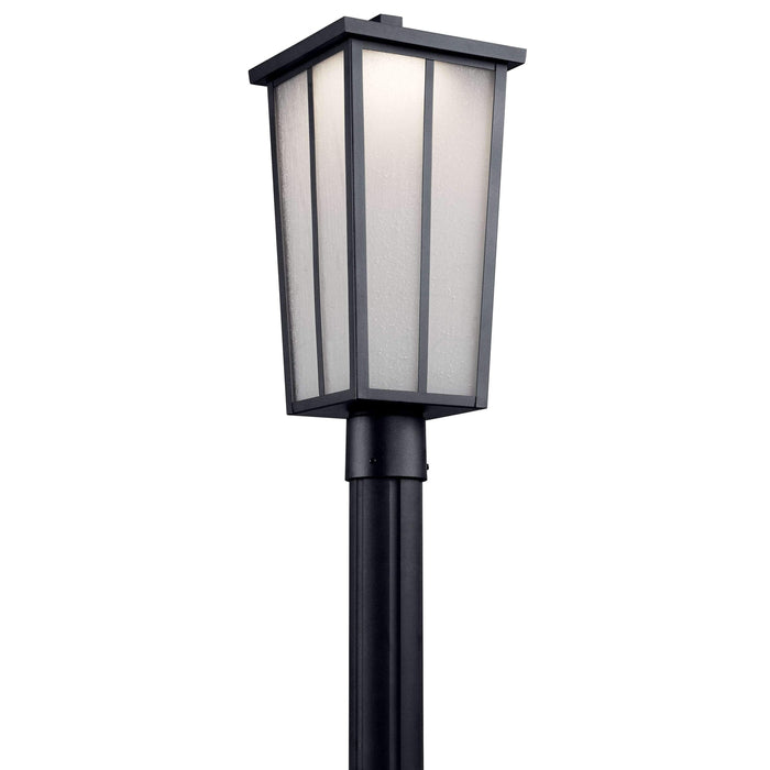 Amber Valley Outdoor Post Mount 1 Light LED - Textured Black