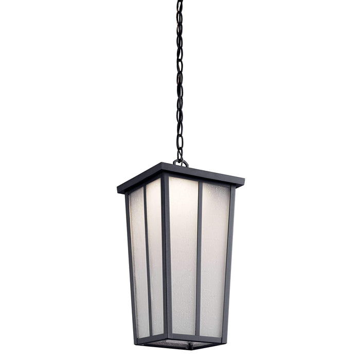 Amber Valley Outdoor Pendant 1 Light LED - Textured Black