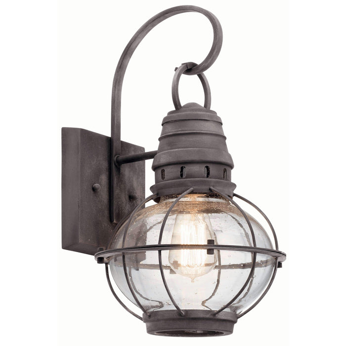 Bridge Point Outdoor Wall 1 Light - Weathered Zinc