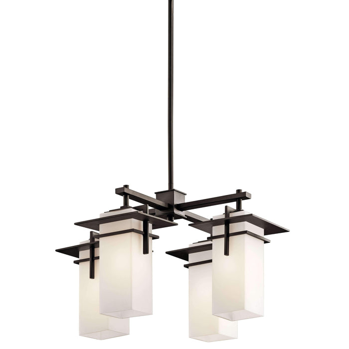 Caterham Indoor/Outdoor Chandelier 4 Light - Olde Bronze