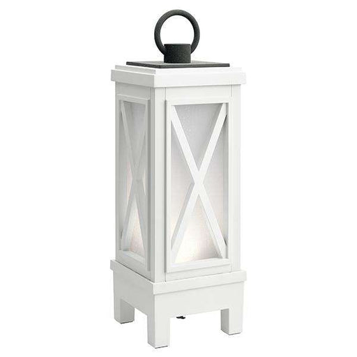 Montego Portable Bluetooth LED Lantern - Weathered White