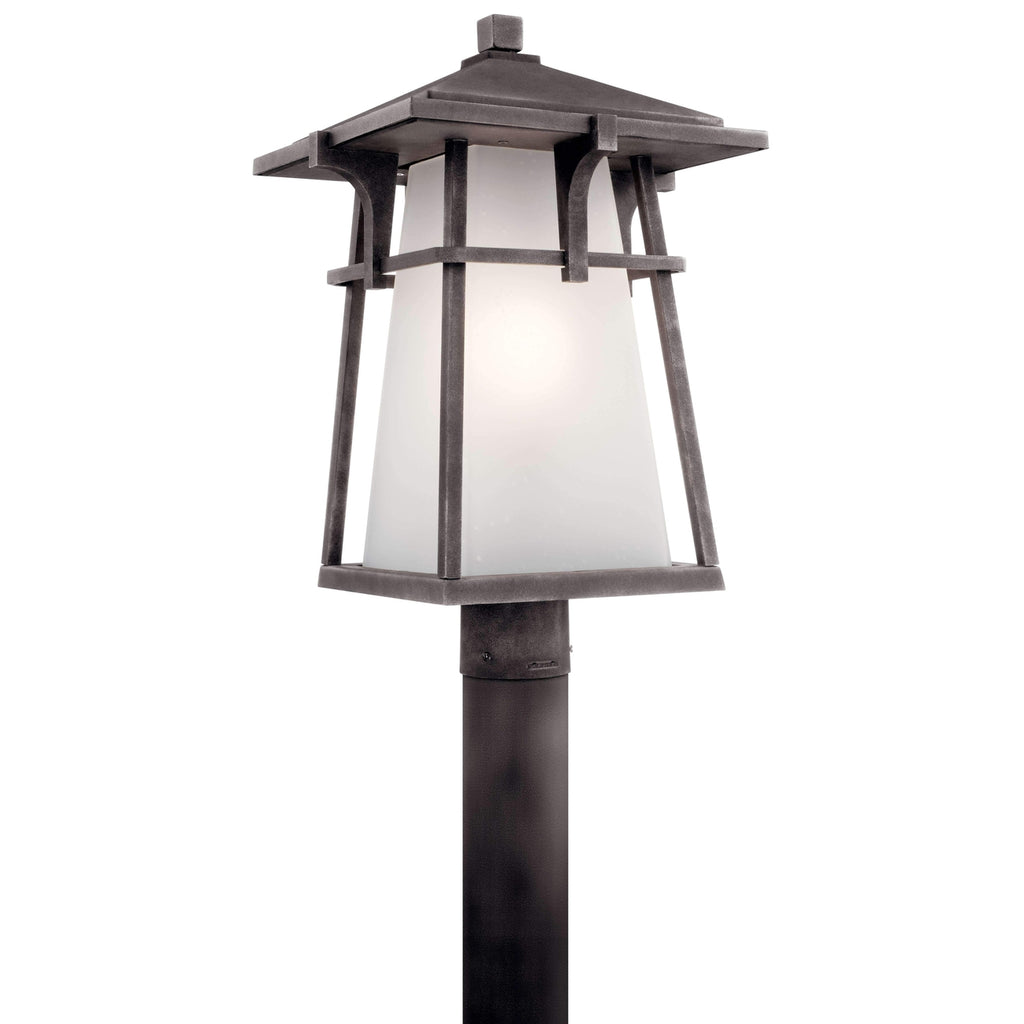 Beckett Outdoor Post Mount 1 Light - Weathered Zinc