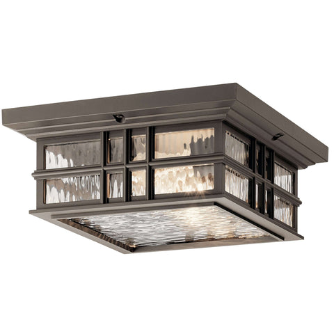 Beacon Square Outdoor Ceiling 2 Light - Olde Bronze