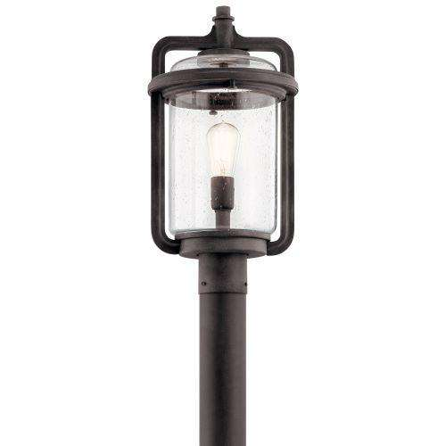 Andover Outdoor Post Mount 1 Light - Weathered Zinc