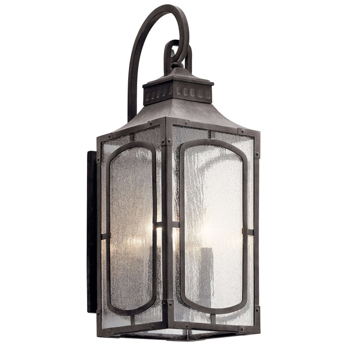 Bay Village Outdoor Wall 3 Light - Weathered Zinc