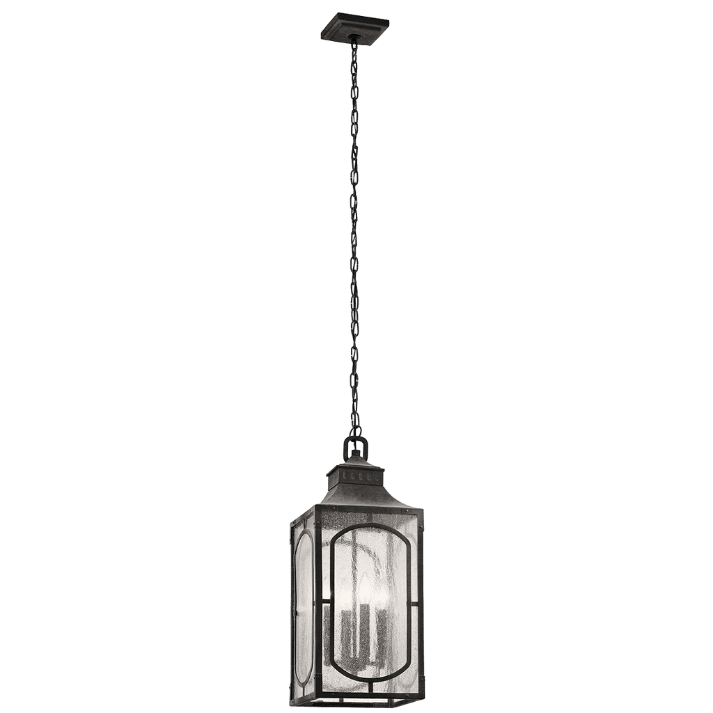 Bay Village Outdoor Pendant 4 Light - Weathered Zinc