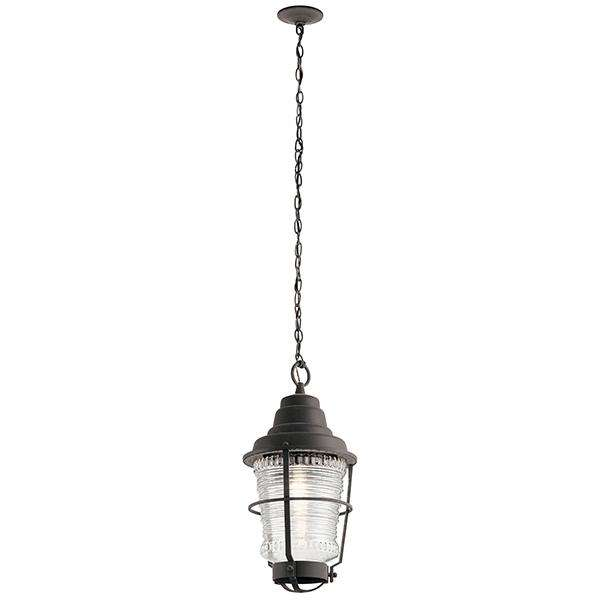 Chance Harbor 1 Light Outdoor Pendant - Weathered Zinc