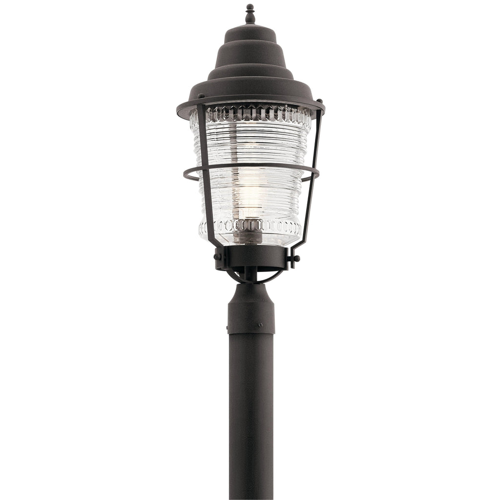 Chance Harbor 1 Light Outdoor Post - Weathered Zinc