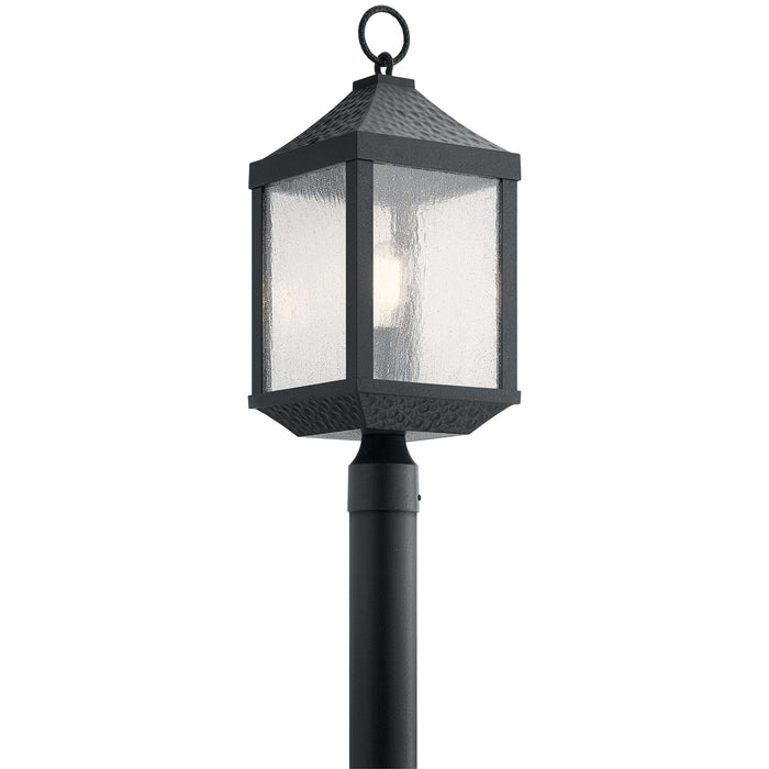 Springfield 1 Light Outdoor Post Mount - Distressed Black
