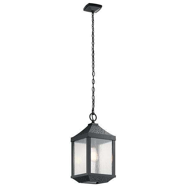 Springfield 1 Light Outdoor Pendant - Distressed Black