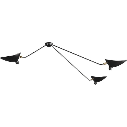 Mid-Century Modern Reproduction 3 Arm MCL-SP3 Spider Ceiling Lamp Inspired by Serge Mouille