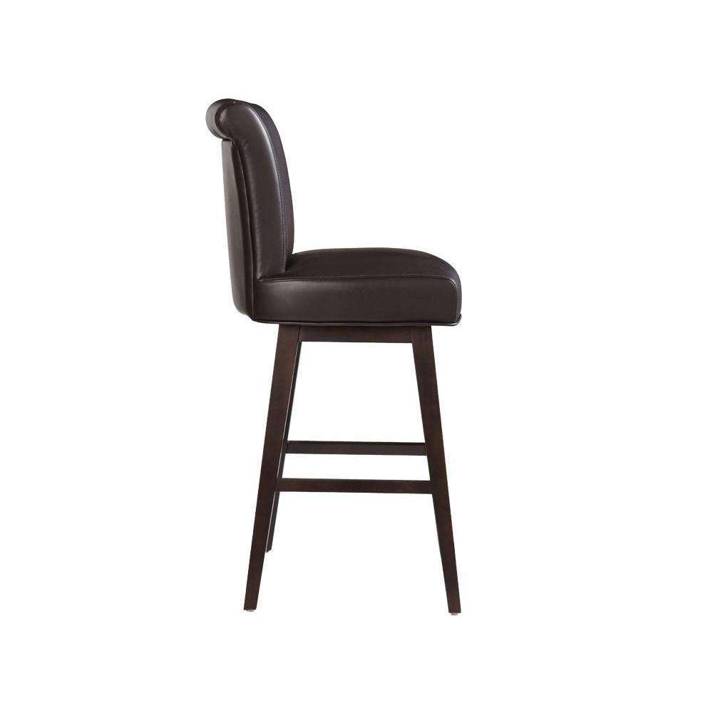 HAMLET SWIVEL BARSTOOL - BROWN LEATHER