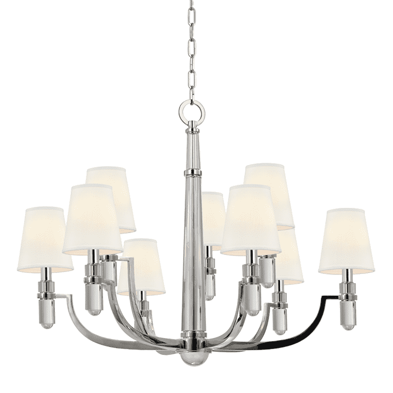 Dayton 9 Light Chandelier Polished Nickel