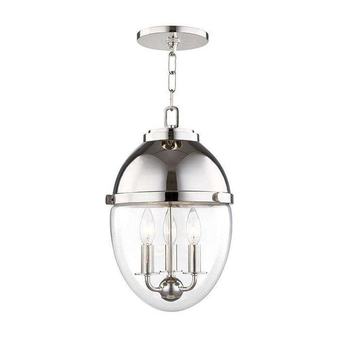 Kennedy 3 Light Pendant Polished Nickel