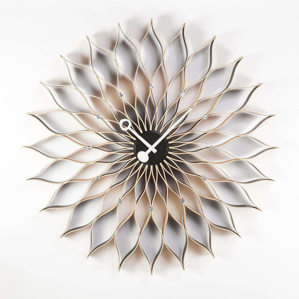 Mid Century Modern Reproduction Sunflower Clock Inspired By George Nelson