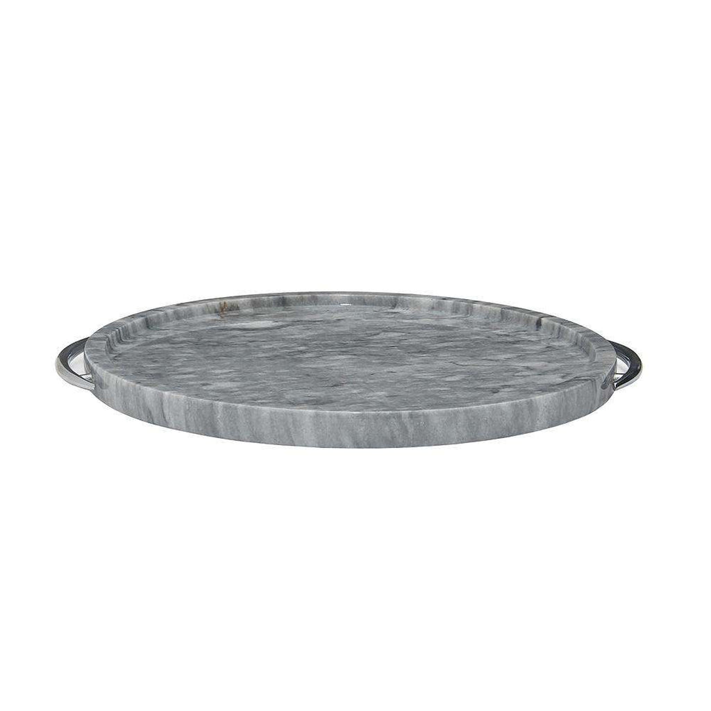 "Cloud Gray 12"" Marble Place Tray"