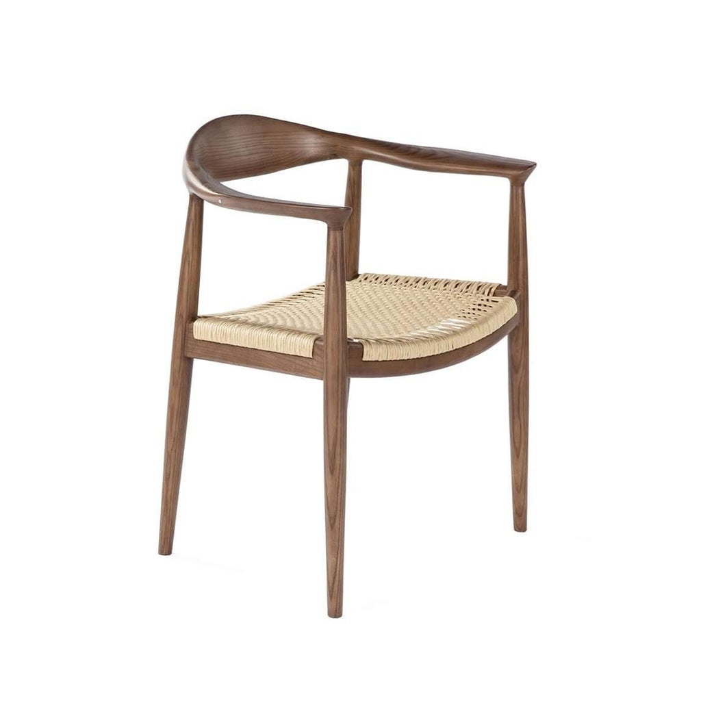 Mid-Century Modern Reproduction PP503 Chair - Walnut with Paper-cord Seat Inspired by Hans Wegner