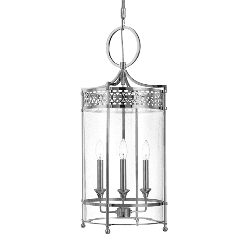 Amelia 3 Light Pendant Polished Nickel