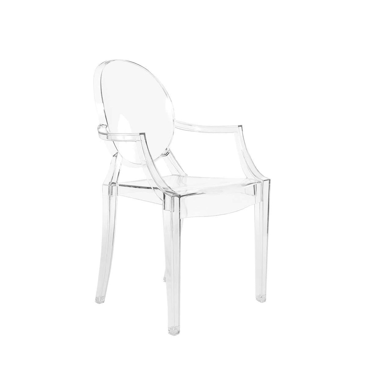 mid century modern reproduction louis ghost chair transparent