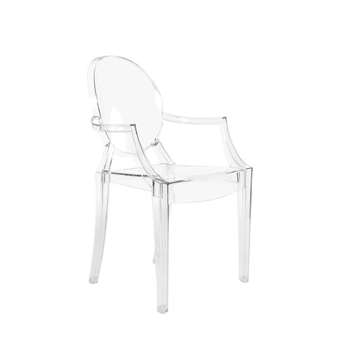 Mid-Century Modern Reproduction Louis Ghost Chair - Transparent Acrylic Dining Arm Chair Inspired by Philippe Starck