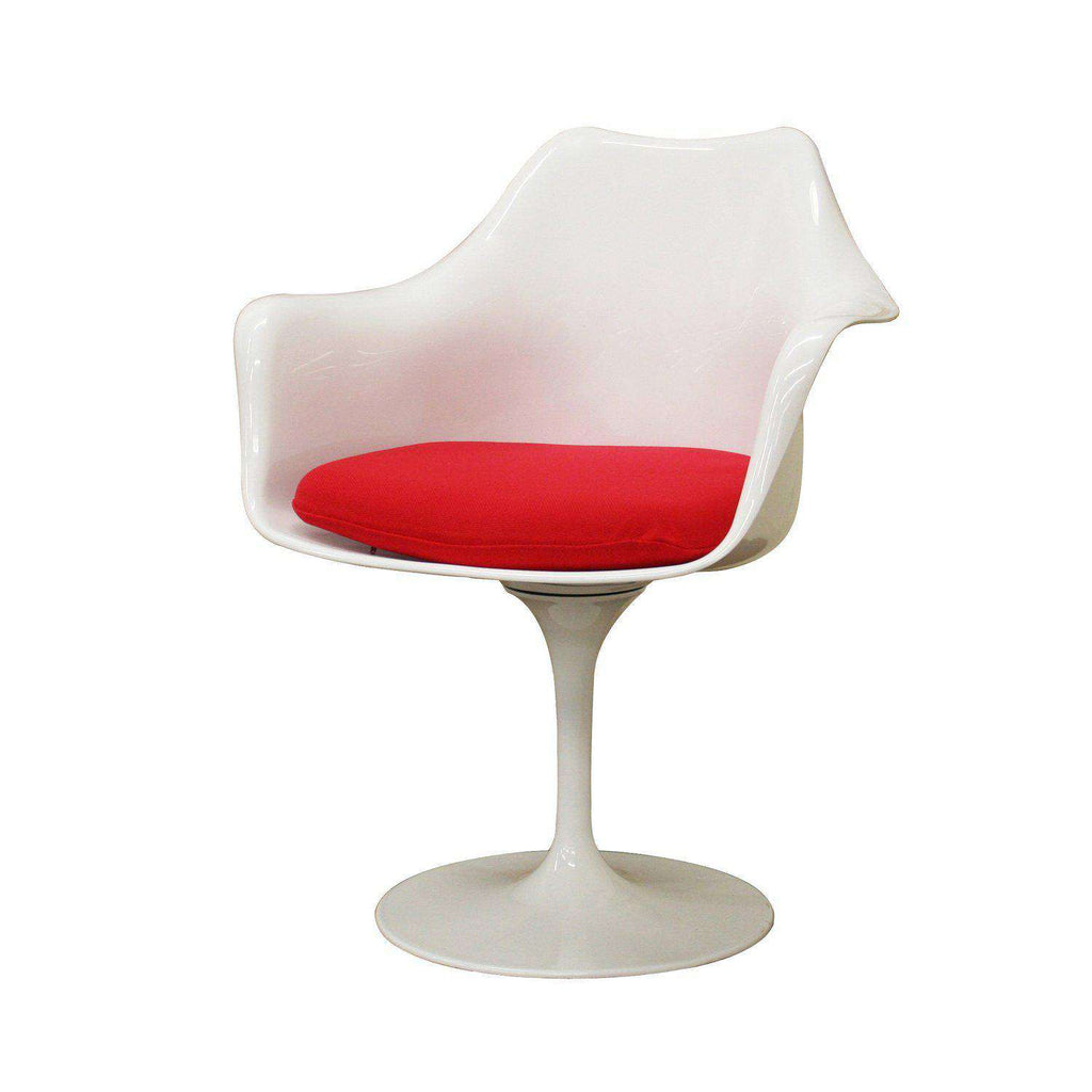 Mid Century Modern Reproduction Tulip Arm Chair Inspired By Eero Saarinen