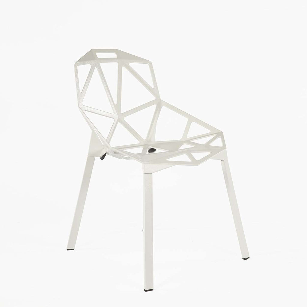 Modern Reproduction Chair One Stacking Side Chair - White Inspired by Konstantin Grcic