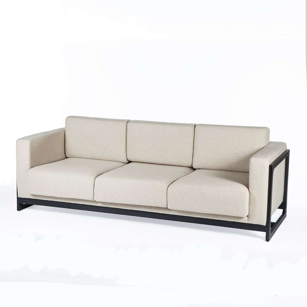 Modern Sean Dix Bravura Sofa - Beige with Black Frame