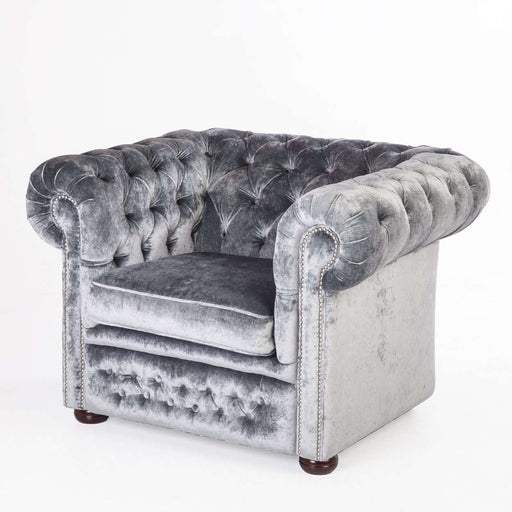 Contemporary Eggert Tufted Lounge Chair - Silver