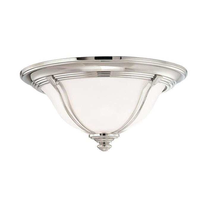 Carrollton 2 Light Flush Mount Polished Nickel
