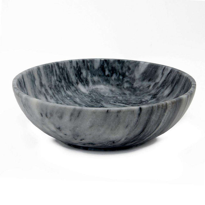 "Laurus Collection Cloud Gray 12"" Marble Bowl"