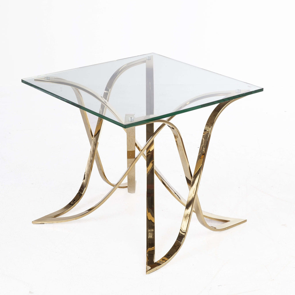 Mid-Century Modern Jiles Side table - Gold