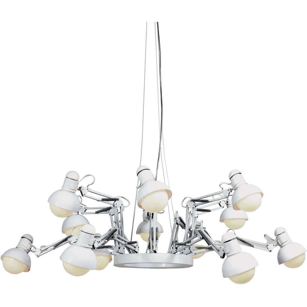 Modern reproduction deer ing 12 light spotlight chandelier white modern reproduction deer ing 12 light spotlight chandelier white inspired by ron gilad mozeypictures Choice Image