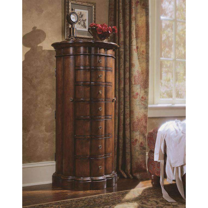 Shaped Jewelry Armoire - Cherry