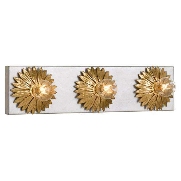Broche 3 Light Antique Gold & Antique Silver Bathroom Vanity