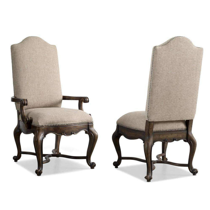 Rhapsody Upholstered Arm Chair-Set of 2