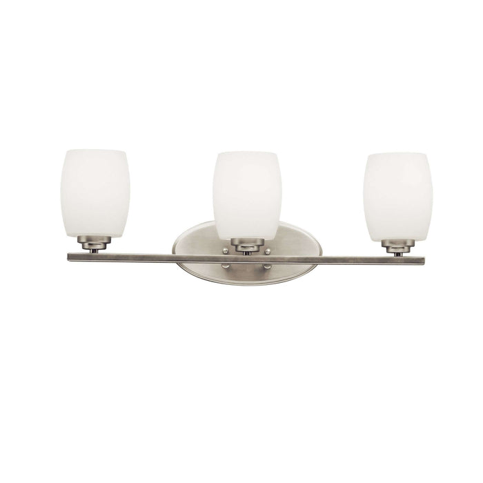 Eileen Bath 3 Light - Brushed Nickel