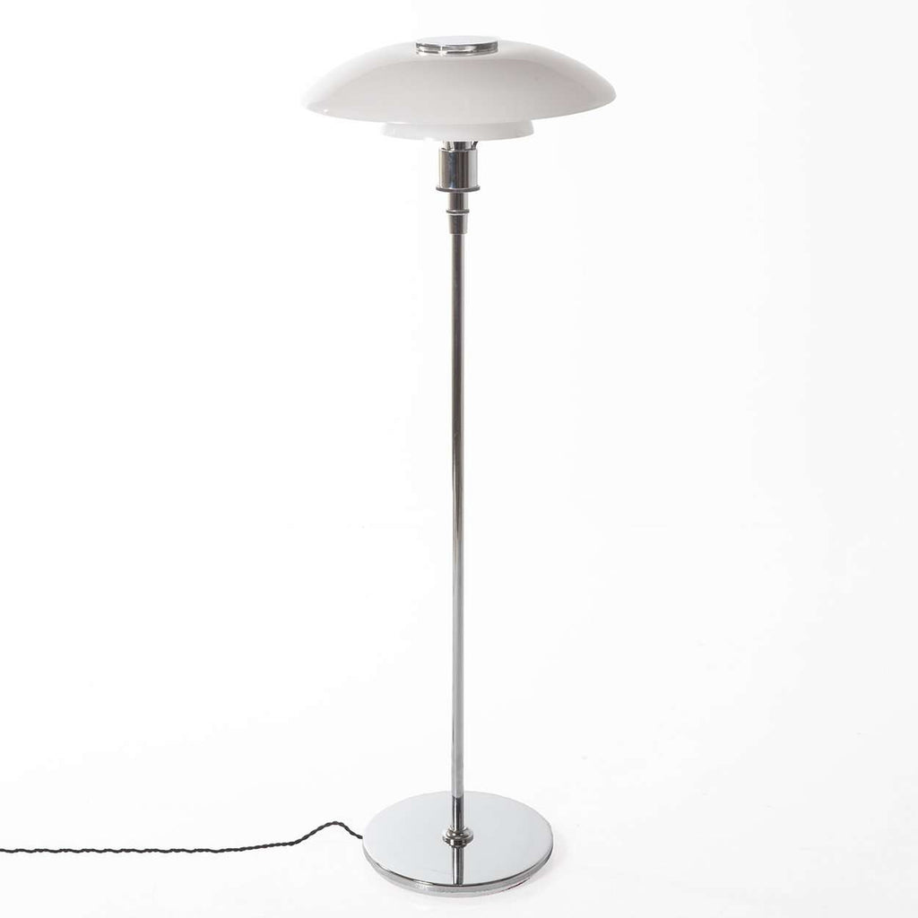 Mid century modern reproduction poul henningsen 4535 floor lamp mid century modern reproduction poul henningsen 4535 floor lamp chrome mozeypictures Gallery