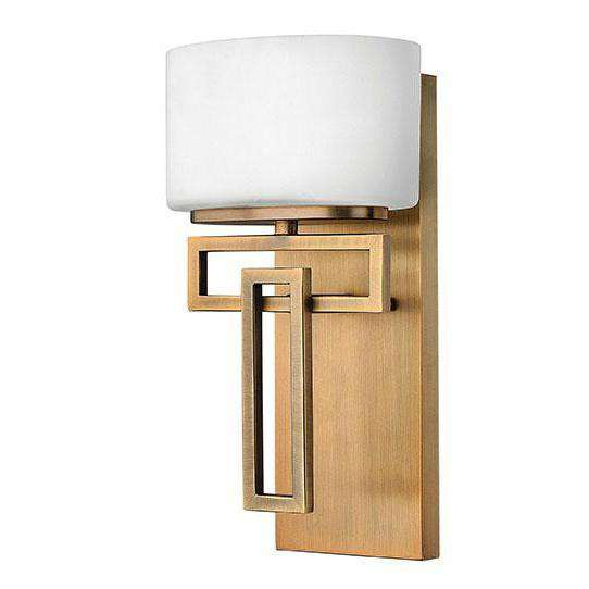 Bath Lanza Bath Sconce Brushed Bronze