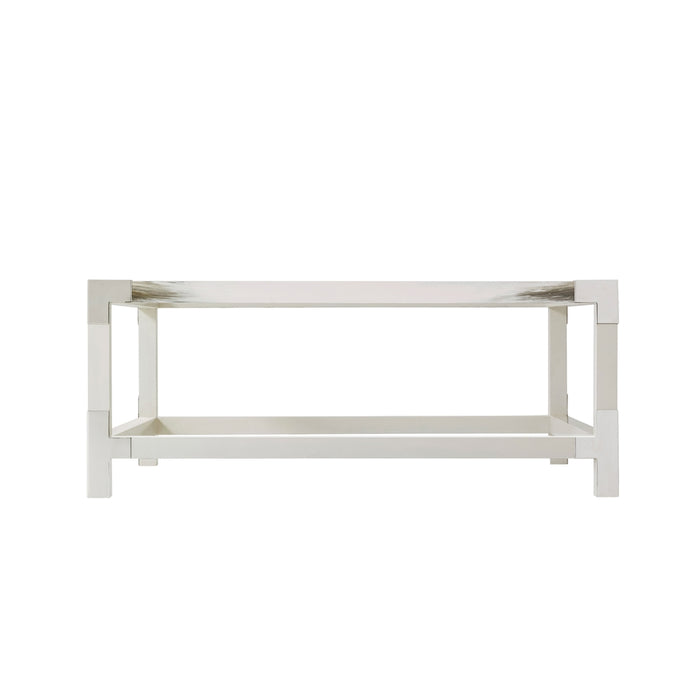 Cutting Edge Squared (Longhorn White) Cocktail Table