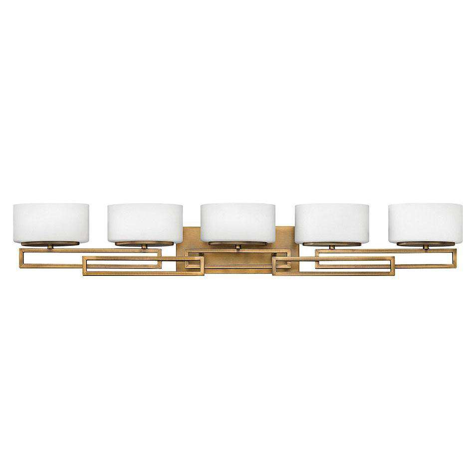 Bath Lanza Bath Five Light Brushed Bronze