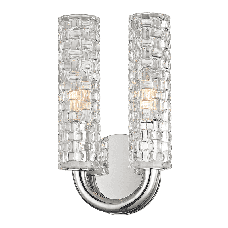 Dartmouth 2 Light Wall Sconce Polished Nickel