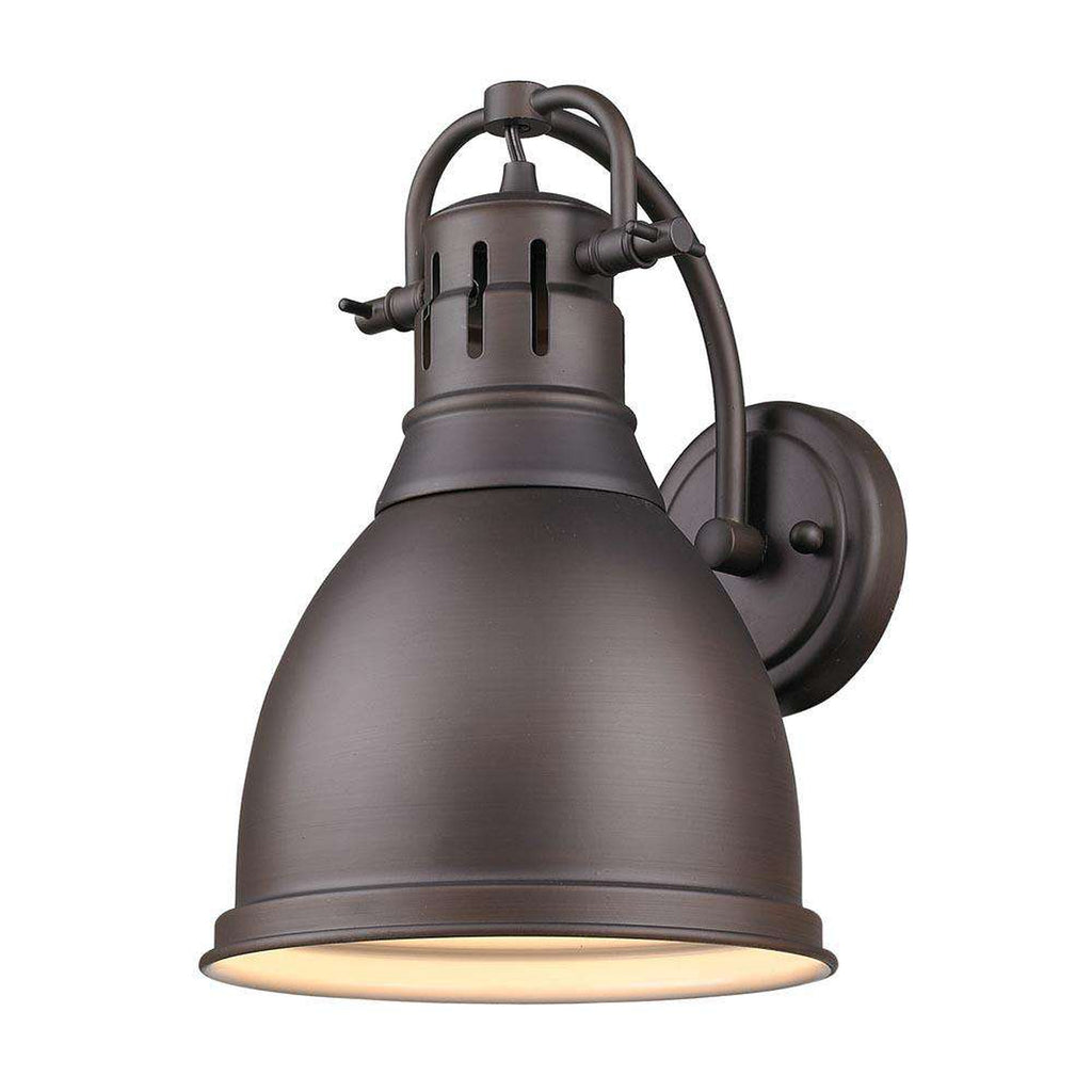 Duncan 1 Light Wall Sconce in Rubbed Bronze with a Rubbed Bronze Shade