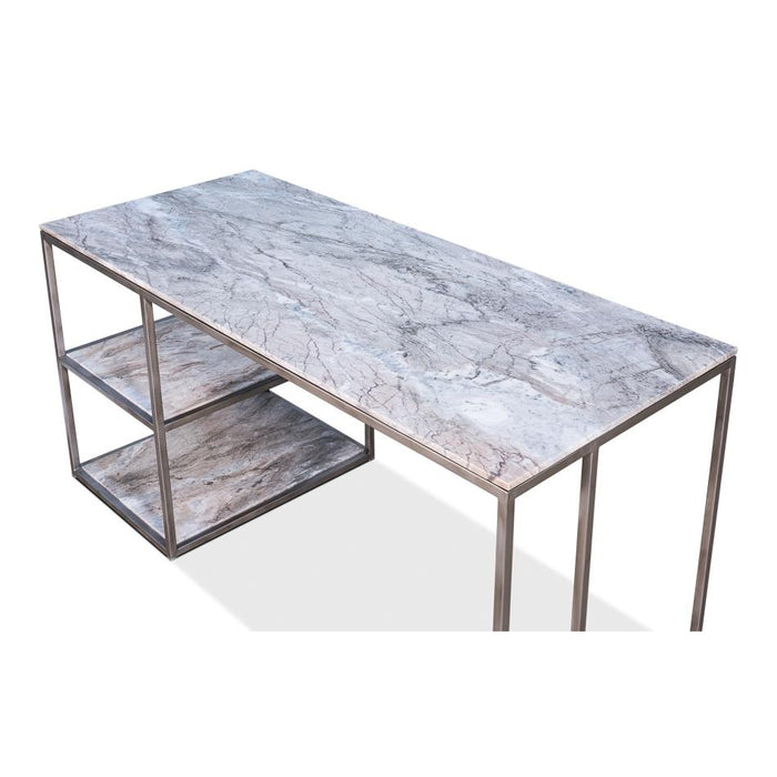 Opened Desk With Shelves, Marble Top