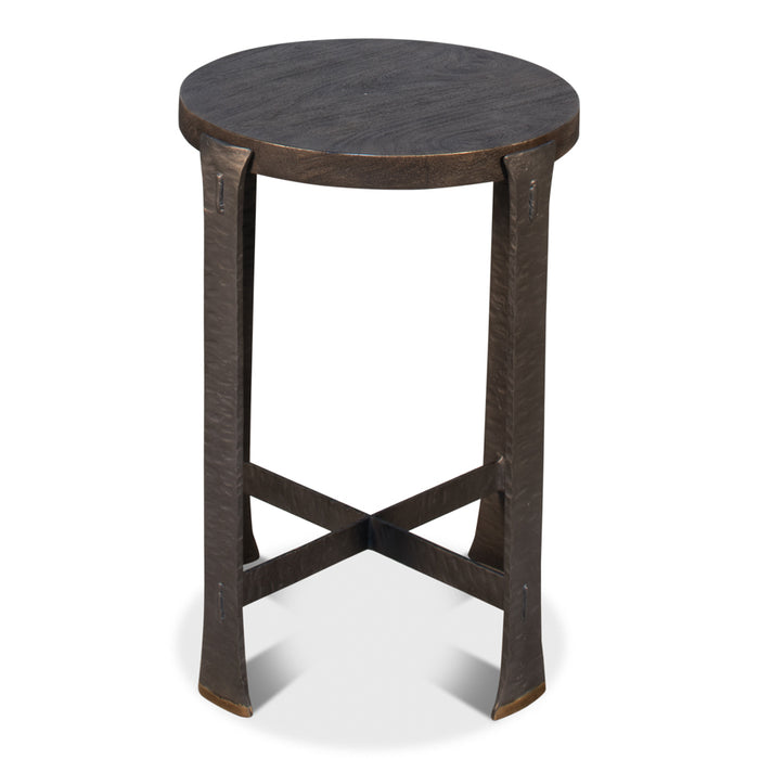 Forged Slats Side Table