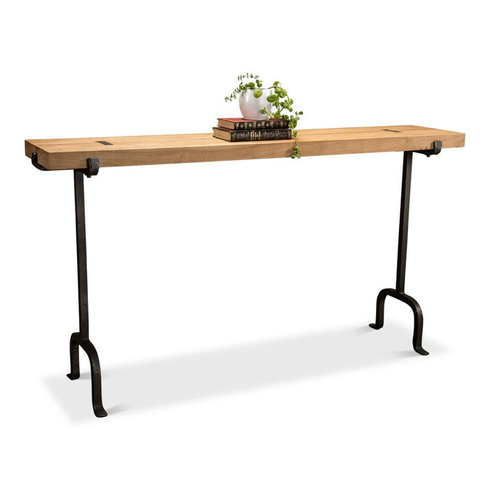 Drift Plank & Iron Console Table
