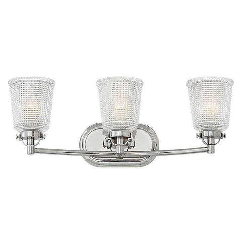 Bath Bennett Bath Three Light Polished Nickel
