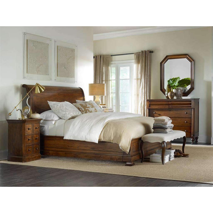 Archivist Sleigh Bed with Low Footboard