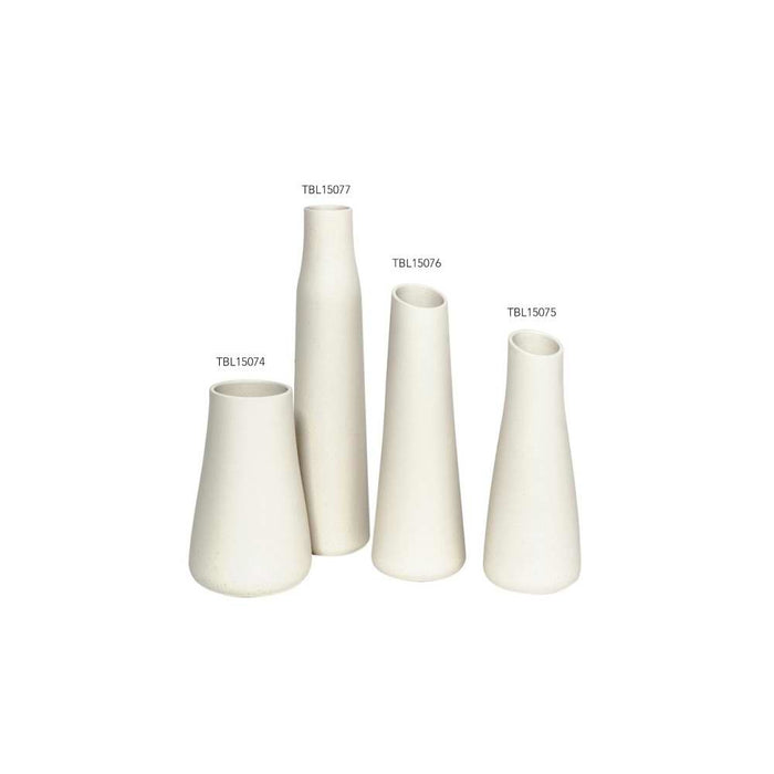 Baltic Tall Lava White  Vase